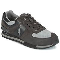 Παπούτσια Άνδρας Χαμηλά Sneakers Ralph Lauren SLATON PONY Black / Grey