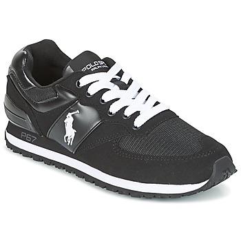 Παπούτσια Άνδρας Χαμηλά Sneakers Ralph Lauren SLATON PONY Black