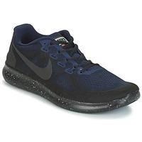 Παπούτσια Άνδρας Τρέξιμο Nike FREE RUN 2017 SHIELD Black / Μπλέ