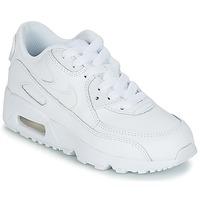 Παπούτσια Αγόρι Χαμηλά Sneakers Nike AIR MAX 90 LEATHER PRE-SCHOOL Άσπρο