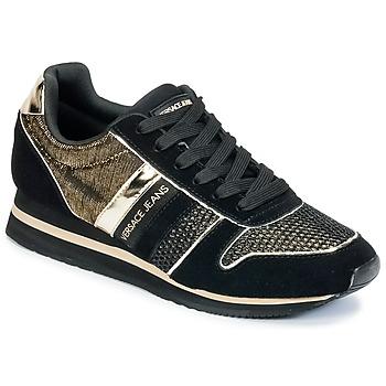 Παπούτσια Γυναίκα Χαμηλά Sneakers Versace Jeans LETRE Black / DORE