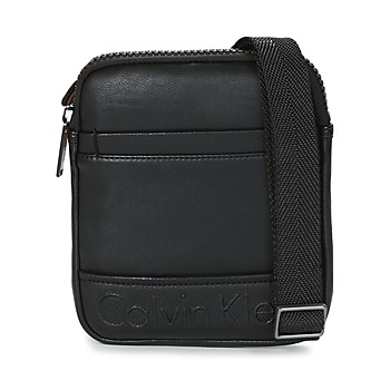 Τσάντες Άνδρας Pouch / Clutch Calvin Klein Jeans BENNET MINI FLAT CROSSOVER Black