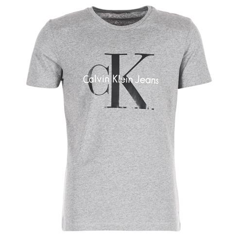 Υφασμάτινα Άνδρας T-shirt με κοντά μανίκια Calvin Klein Jeans TEE RE-ISSUE CN REGULAR FIT TEE SS Grey