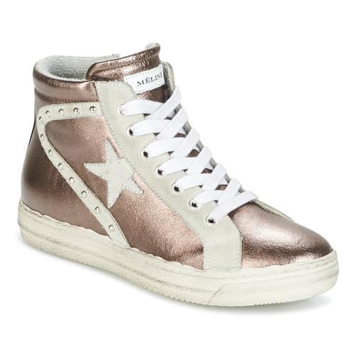Παπούτσια Γυναίκα Ψηλά Sneakers Meline POLARE BRONZE