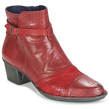 Παπούτσια Γυναίκα Μποτίνια Dorking DALMA Red