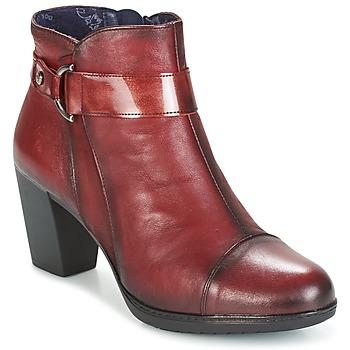 Παπούτσια Γυναίκα Μποτίνια Dorking EVELYNE Red