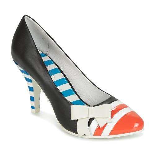 Παπούτσια Γυναίκα Γόβες Lola Ramona STILETTO Black / Orange / Άσπρο