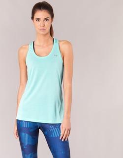 Υφασμάτινα Γυναίκα Αμάνικα / T-shirts χωρίς μανίκια Under Armour TECH TANK - SOLID Green