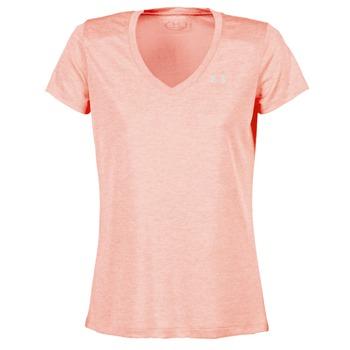 Υφασμάτινα Γυναίκα T-shirt με κοντά μανίκια Under Armour TECH SSV - TWIST CORAIL