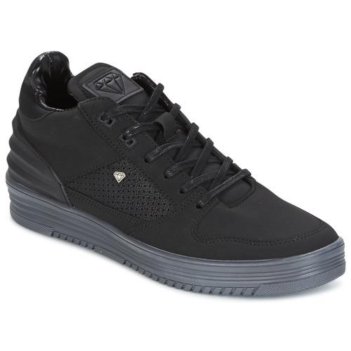 Παπούτσια Άνδρας Χαμηλά Sneakers Cash Money STATES Black / Grey