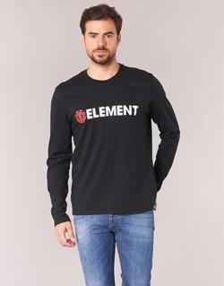 Υφασμάτινα Άνδρας Μπλουζάκια με μακριά μανίκια Element BLAZIN LS Black