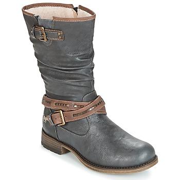 Παπούτσια Γυναίκα Μπότες για την πόλη Mustang ISALBA Γραφίτης