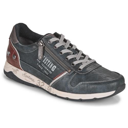 Παπούτσια Άνδρας Χαμηλά Sneakers Mustang BRICA Marine