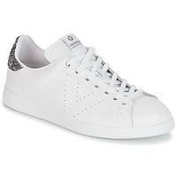 Παπούτσια Γυναίκα Χαμηλά Sneakers Victoria DEPORTIVO BASKET PIEL Άσπρο / Grey