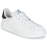 Παπούτσια Γυναίκα Χαμηλά Sneakers Victoria DEPORTIVO BASKET PIEL Ασπρο / Μπλέ
