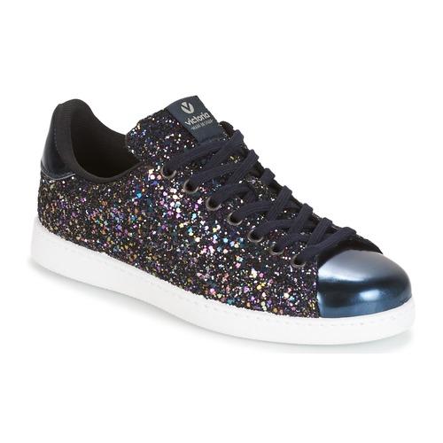 Παπούτσια Γυναίκα Χαμηλά Sneakers Victoria DEPORTIVO BASKET GLITTER MARINE