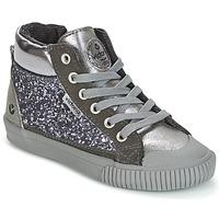 Παπούτσια Κορίτσι Ψηλά Sneakers Victoria BOTA PIEL PU/GLITTER Silver