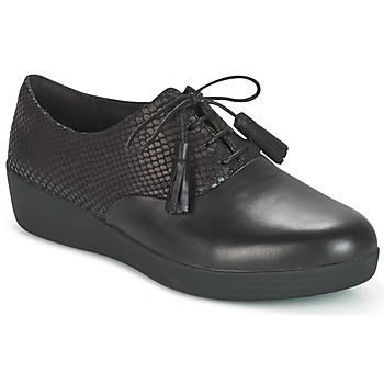 Παπούτσια Γυναίκα Derby FitFlop CLASSIC TASSEL SUPEROXFORD Black / Serpent