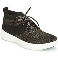Παπούτσια Γυναίκα Ψηλά Sneakers FitFlop UBERKNIT SLIP-ON HIGH TOP SNEAKER Black / Bronze