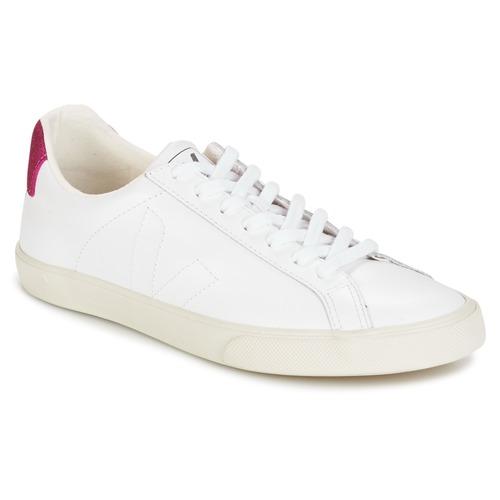 Παπούτσια Γυναίκα Χαμηλά Sneakers Veja ESPLAR LT άσπρο / Pailleté / Magenta