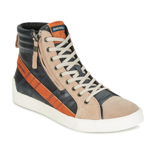 Παπούτσια Άνδρας Ψηλά Sneakers Diesel D-STRING PLUS ANTHRACITE / CAMEL