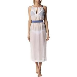 Υφασμάτινα Γυναίκα Μακριά Φορέματα Diesel 00SXMT-0TANX-141 Beige
