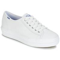 Παπούτσια Γυναίκα Χαμηλά Sneakers Keds TRIPLE KICK CORE LEATHER Άσπρο