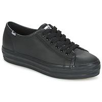 Παπούτσια Γυναίκα Χαμηλά Sneakers Keds TRIPLE KICK CORE LEATHER Black
