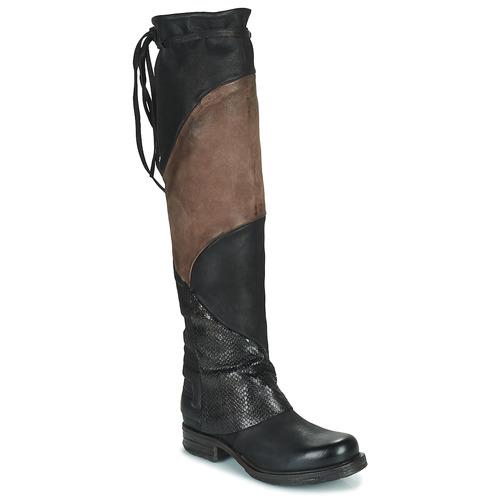 Παπούτσια Γυναίκα Ψηλές μπότες Airstep / A.S.98 SAINT EC PATCH Black