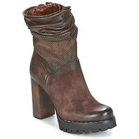 Παπούτσια Γυναίκα Μποτίνια Airstep / A.S.98 BLOC ZIP Brown