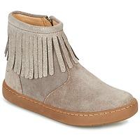 Παπούτσια Κορίτσι Μπότες Shoo Pom PLAY FRINGE Taupe / Platinum