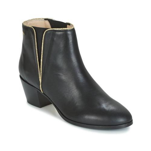 Παπούτσια Γυναίκα Μποτίνια M. Moustache JEANNE.M Black / Gold