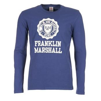 Υφασμάτινα Άνδρας Μπλουζάκια με μακριά μανίκια Franklin & Marshall DESTU MARINE