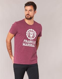 Υφασμάτινα Άνδρας T-shirt με κοντά μανίκια Franklin & Marshall GRAVI Bordeaux