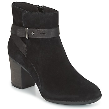 Παπούτσια Γυναίκα Derby Clarks ENFIELD SARI Μαυρο / Suede