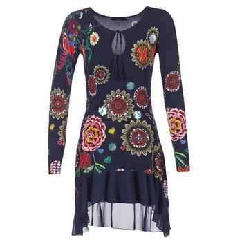 Υφασμάτινα Γυναίκα Κοντά Φορέματα Desigual GRUFI μπλέ