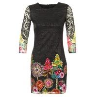 Υφασμάτινα Γυναίκα Κοντά Φορέματα Desigual GRAFI Black