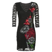 Υφασμάτινα Γυναίκα Κοντά Φορέματα Desigual GRAFE Black