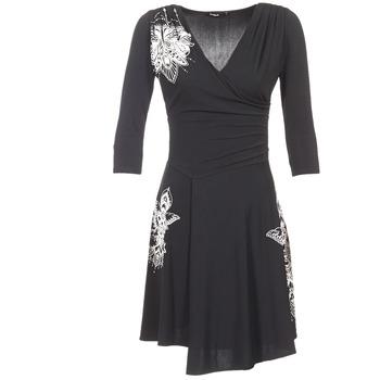 Υφασμάτινα Γυναίκα Κοντά Φορέματα Desigual GRAFU Black