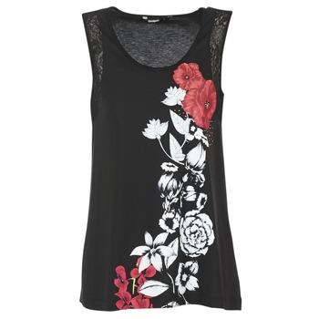 Υφασμάτινα Γυναίκα Αμάνικα / T-shirts χωρίς μανίκια Desigual MAGEIS Black