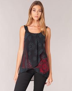 Υφασμάτινα Γυναίκα Αμάνικα / T-shirts χωρίς μανίκια Desigual MEGEC Black / Red