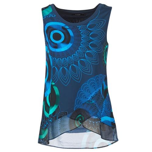 Υφασμάτινα Γυναίκα Αμάνικα / T-shirts χωρίς μανίκια Desigual TAMAC μπλέ