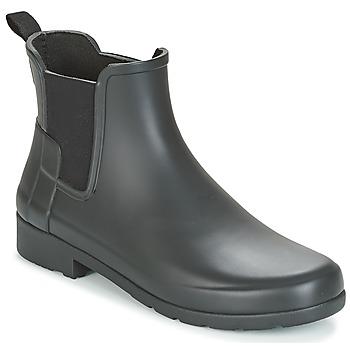 Παπούτσια Γυναίκα Μπότες Hunter ORIGINAL REFINED CHELSEA Black