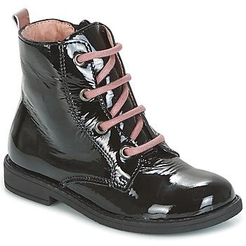 Παπούτσια Κορίτσι Μπότες Citrouille et Compagnie HEMANU Black / ροζ