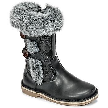 Παπούτσια Κορίτσι Μπότες για την πόλη Citrouille et Compagnie HOSY Black