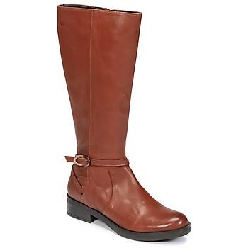 Παπούτσια Γυναίκα Μπότες για την πόλη Betty London HOVANI CAMEL