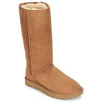 Παπούτσια Γυναίκα Μπότες για την πόλη UGG CLASSIC TALL II Brown
