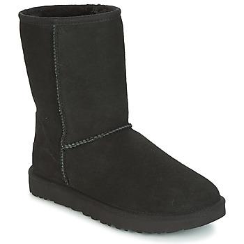 Παπούτσια Γυναίκα Μπότες UGG CLASSIC SHORT II Black