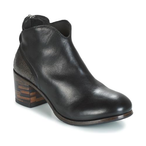 Παπούτσια Γυναίκα Μπότες Moma CUSNA NERO/ TALON TACO MIX, ARRIRE AFRICA Black / Argenté