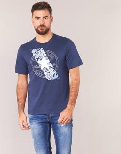 Υφασμάτινα Άνδρας T-shirt με κοντά μανίκια Converse CHUCKPATCH CONTRAST SLASH TEE Marine